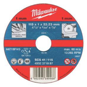Отрезной диск Milwaukee по металлу SCS 41