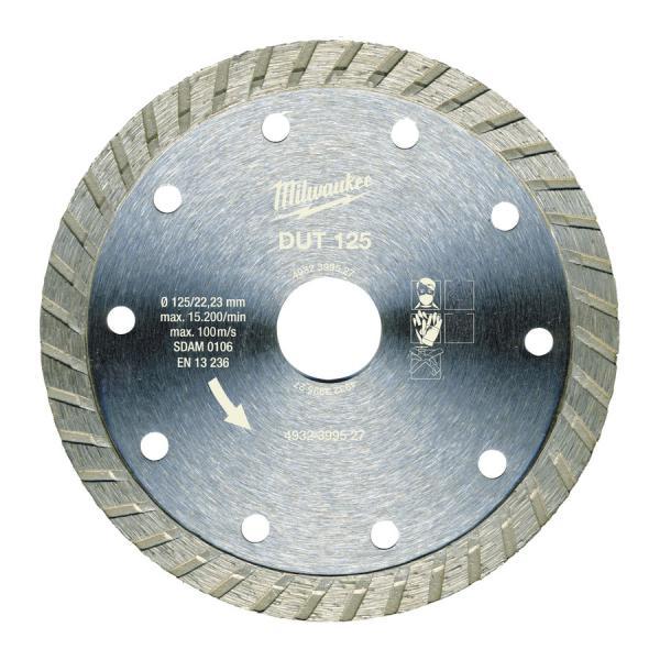 Алмазный диск Milwaukee профессиональная серия DUT d 125 мм