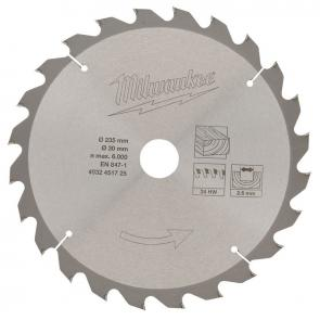 Диск для циркулярной пилы по дереву Milwaukee 235 X 30 X 24 мм