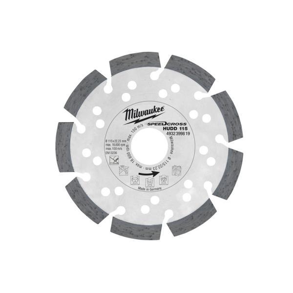 Алмазный диск Milwaukee HUDD d 115 мм